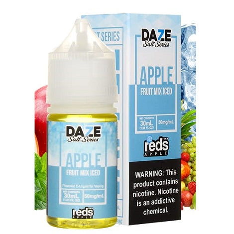 Daze Salt Series Apple Original Iced Nicotine Salt e-liquid near me online vape shop real apple flavor salt
