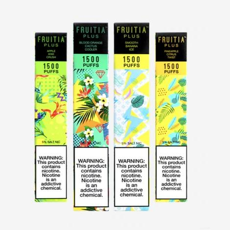 Fruitia Plus Disposable Vape 5ml New Flavor Collection Disposable Vape Device near me 1500 puffs 5ml 5%v all new