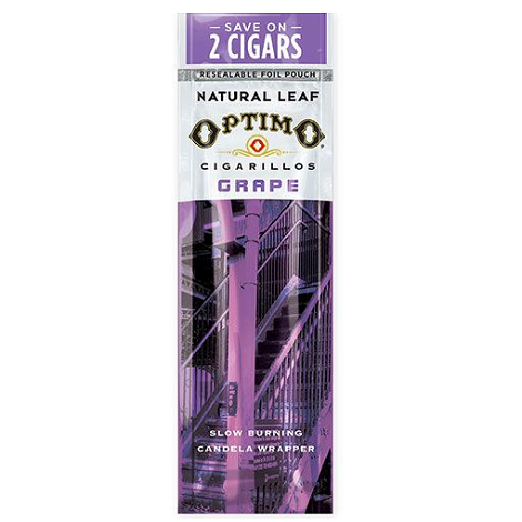 Optimo Grape Flavor Cigar Packet 2 per pouch near me online tobacco shop best online tobacco shop with best reviews