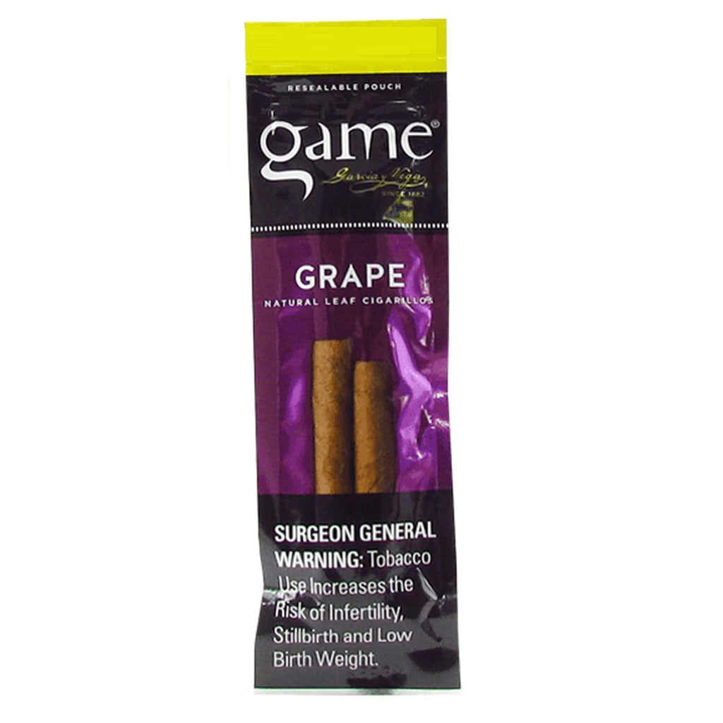 Game Grape flavor Cigars 2 cigarillos per packet new cigars collection to buy online natural leaf infused flavor