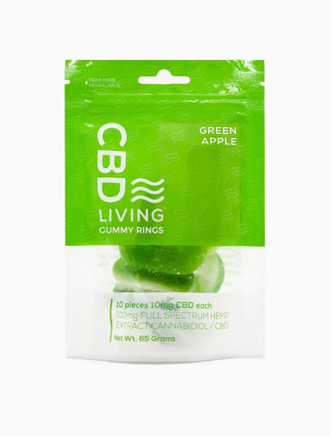 CBD Green Apple Ring Gummies