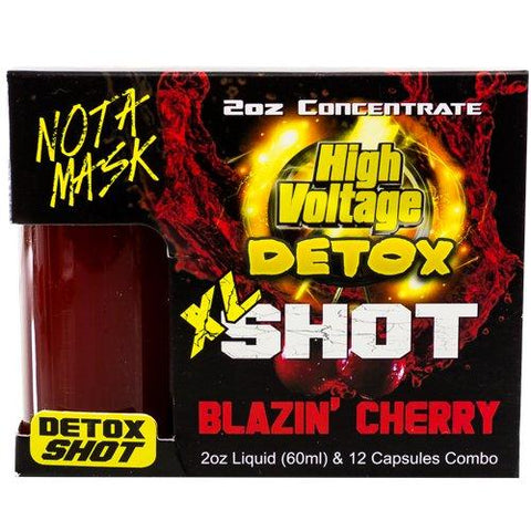 High Voltage Detox Shot XL 12 Detox tablets with 60 ml liquid toxin removal juice fruty flavors body cleansers