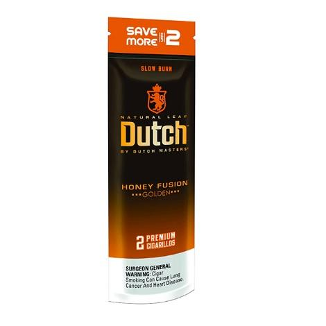 Dutch Honey Fusion Cigarillo Natural Leaf Foil Pouch 2 Cigars per pack near me best prices with best review cigars