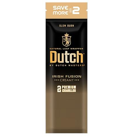 Dutch Irish Fusion Flavor Natural Tobacco Leaf Cigarillos near me Best Online Cigar Prices 2 cigarillos per foil pouch
