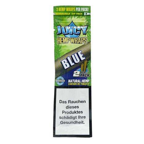 Juicy Hemp Wraps Blue Flavor Single Pouch 2 wraps per pack new blunt rolling GMO free tobacco free leaf in best prices