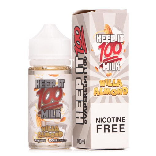 Keep it 100 Milk Ejuice Nilla Almond nicotine free vape juice flavor 100ml eliquid bottle best milky taste juice