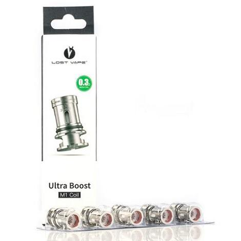 0.3 ohm M1 Ultra Boost coils packet for Lost Vape Orion Q-Ultra Replacemnet Coils for power draw smooth vaping coils