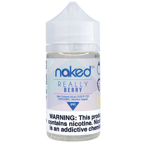 Real Berry Naked 100 60ml Eliquid vape juice 3mg nic salt content for strong throat hit new delicious vape flavors