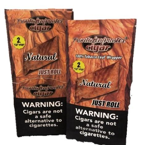 Fronto leaf Master Just Roll Natural Flavor Tobacco Leaf Wrappers 15 pouches 30 leaf per packet near me online shop