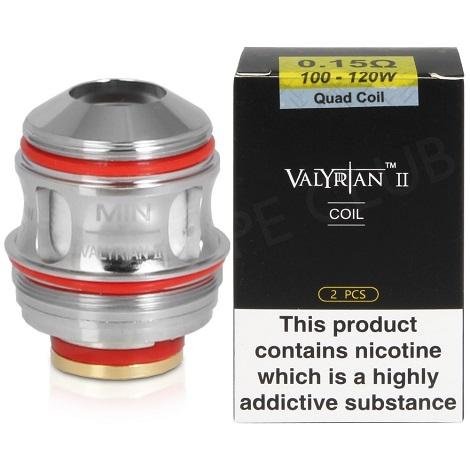 UWELL VALYRIAN 2 Quad 0.15ohm 100-120W REPLACEMENT COILS 2 per pack in best online price at ash vape smoke