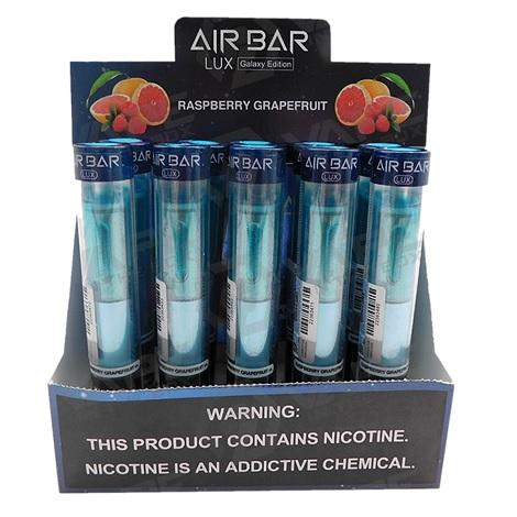 Airbar lux Galaxy Edition by Suorin Rasberry Grapefruit flavor disposable vape device near me 2.7ml 5% nicotine salt