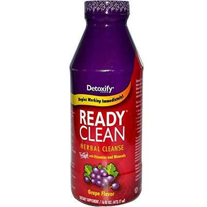 Detoxify Ready Herbal cleaning juice for detoxifying body through urine within hours and grape flavor detoxify