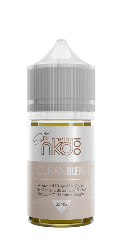 nkd 100 nicotine salt ejuice cuban cigar blend flavor ejuice for starters and pro vaping juice in 2020