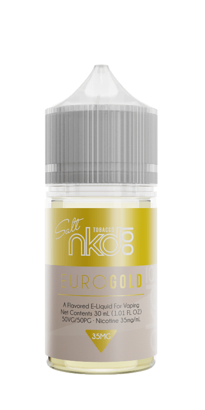 Nicotine Salt vape juice near me gold flavor vaping liquid flavor for pods and atomizers by nkd 100 e-liquids