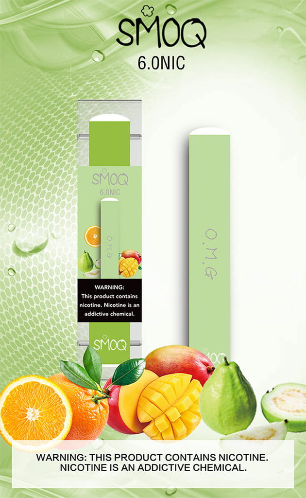 Orange Mango Guava OMG Smoq disposable competitive to Posh plus