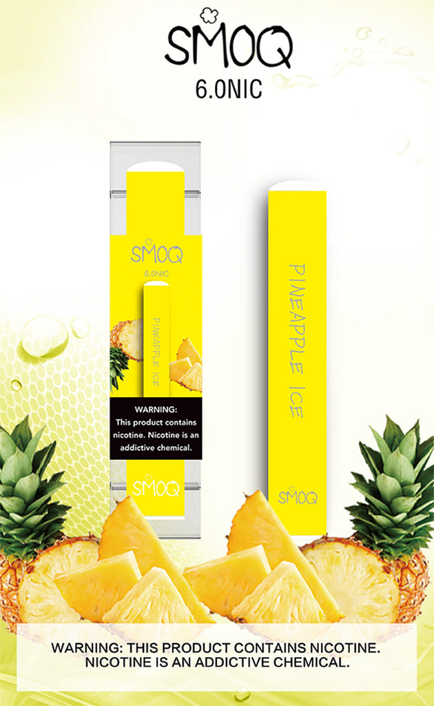 smoq vape hits for Pineapple Ice disposable