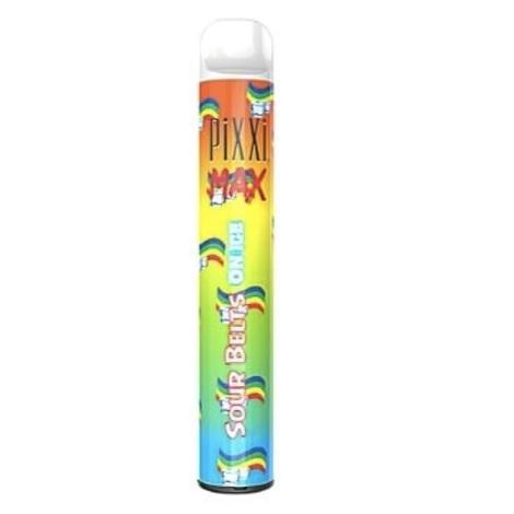 Pixxi Max Sour Belts On Ice Disposable Vape device 5ml Ejuice capacity long lasting battery near me