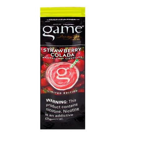 Game Cigars Strawberry Colada flavor 2 cigars per packet new cigarillos online available near me tobacco shop