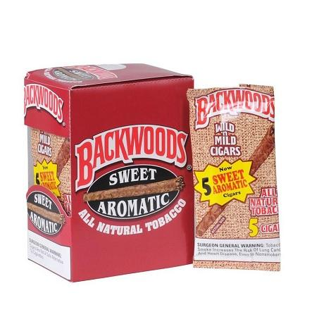 Backwoods Original Cigar Box Sweet Sweet Aromatic Flavored Cigarillos 40 cigars per OCT near me online tobacco shop