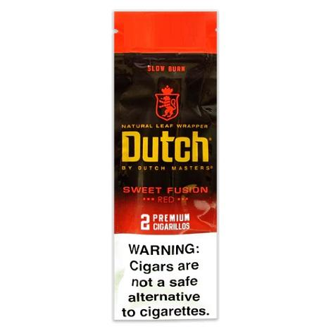 Dutch Sweet Fusion Cigars Natural Leaf Slow Burn 2 Cigarillos per Foil Pouch near me online tobacco shop best review cigar