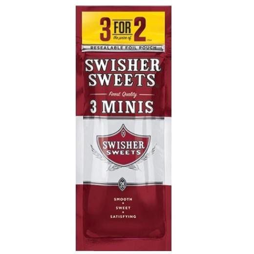 Swisher Sweets Mini Sweets Cigarillo 3 cigars per packet new Flavor of mini cigars near me online tobacco shop