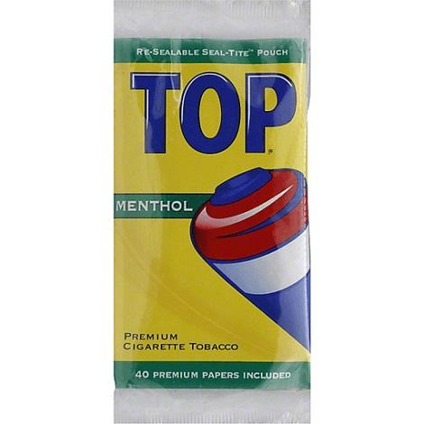 TOP Menthol Premium CIgarette Tobacco with 40 rolling papers 0.6 oz Bag Pouch Crushed Tobacco near me online shop