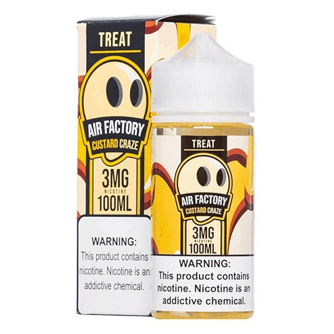 Treat Air Factory 100ml Eliquid Bottle Custard Craze 3mg Nicotine flavored Ejuice for smooth vaping best reviews ejuice