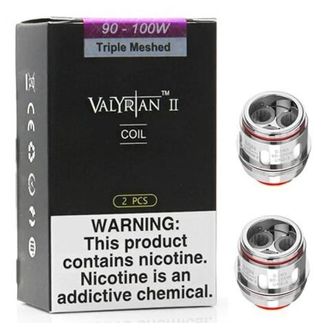 UWELL VALYRIAN 2 Triple Meshed 0.16ohm 90-100W 2 pieces per pack new sub ohm resistance high performance vape cloud coils