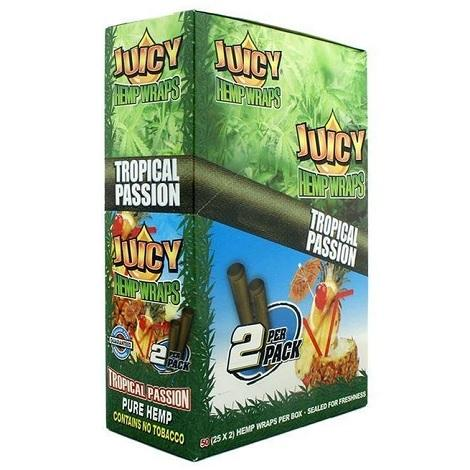 Juicy Hemp Wraps Blue Box 15X2 Leaf per pack in best online prices to buy hemp wraps GMO free wrap box best reviews