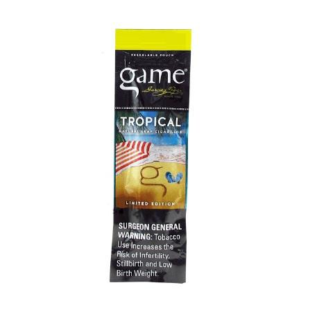 Game Tropical Flavor CIgar 2 cigarillos per pack new tobacco leaf natural cigars near me online tobacco shop