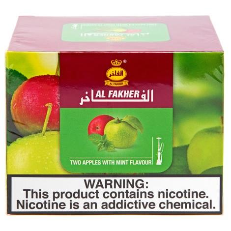 Al Fakher Two Apples with mint Hookah Tobacco flavor double apple mint flavor shisha tobacco near me