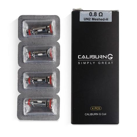 Caliburn G Extra Coils Pack Box 4 coils Per Box Pack near me online vape shop best price online vape device kit