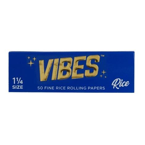 Vibes Rice Rolling Papers 1 1/4 Size 1.25 inch long 50 leaves per pack natural rice taste best rolling paper for joints