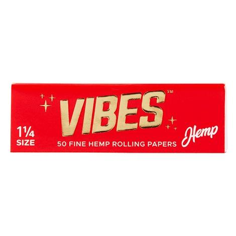 Vibes Hemp Rolling Paper 1 1/4 Size 1.25 inch Rolling Paper 50 leaves per pack near me online tobacco shop best price