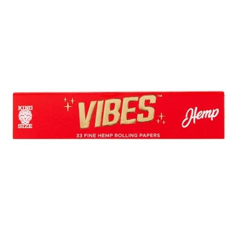 Vibes Hemp Rolling Paper King Size 33 Fine Rolling Paper per pack near me best tasteless rolling papers natural Hemp Plant