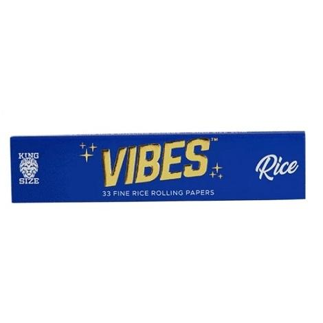 Vibes Rice Rolling Papers King Size 33 Leaves per pack Large Roll your own Joint Paper Fine Quality Paper near me online shop