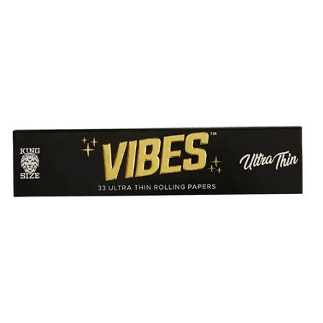 Vibes Ultra Thin Rolling Paper King Size 33 Thin Leaves Per Pack Easy rolling for joints long lasting papers near me shop