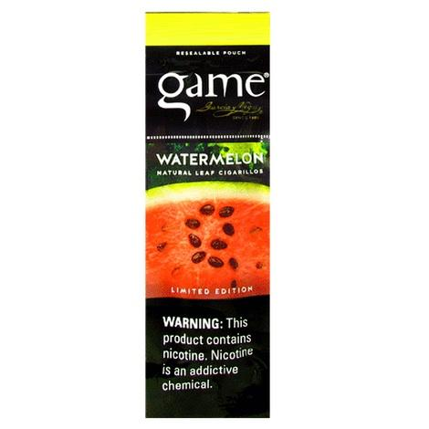 Game Watermelon Flavor Cigars 2 per packet natural tobacco leaf flavored cigarillos near me in best online prices