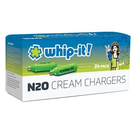New Whip It Cream Charger N20 Nitrous oxide cream chargers for 1/2 liter cream 24 packs near me shop