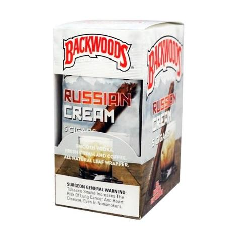 Russian Cream Backwoods CIgar Box 8X5 Natural Tobacco Leaf Cigarillo Packets near me online tobacco shop best deals