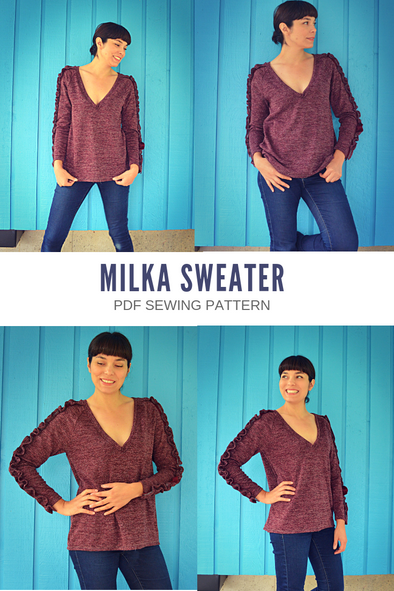 Milka Raglan Sweater PDF sewing pattern