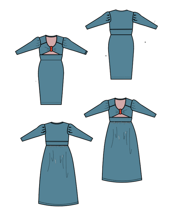 Michel Dress PDF sewing pattern and printable sewing tutorial for women