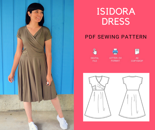 Isidora Dress Pattern - DGpatterns