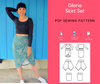 Gloria Skirt Set PDF sewing patterns and tutorial - DGpatterns