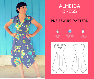 ALMEIDA KNIT DRESS PATTERN AND TUTORIAL - DGpatterns