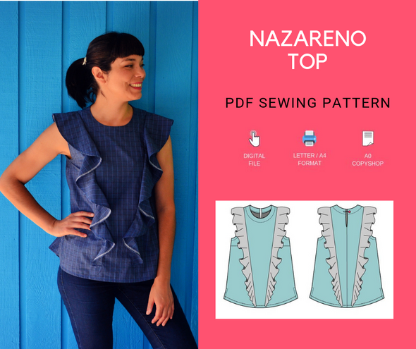 Nazareno Top PDF sewing pattern - DGpatterns
