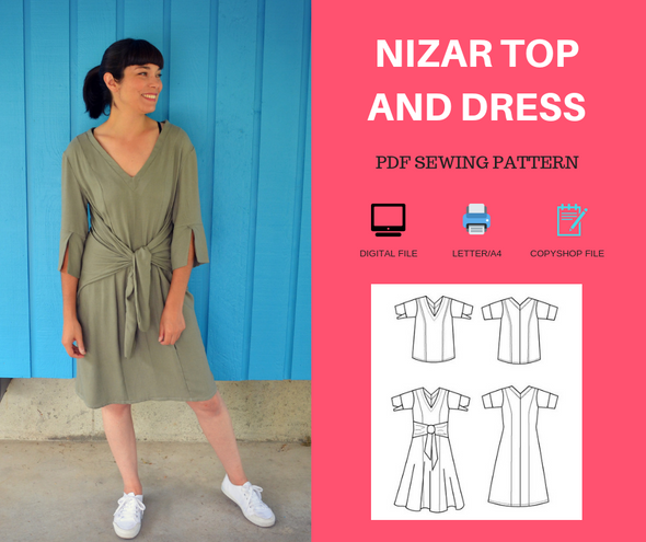Nizar Top and Dress PDF sewing pattern - DGpatterns