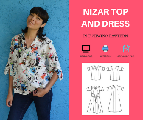 Nizar Top and Dress PDF sewing pattern