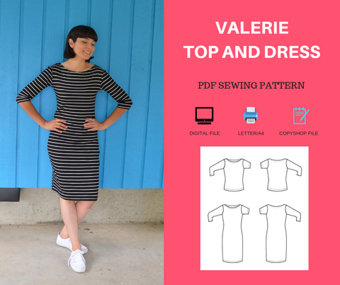 Valerie Top and Dress Pattern - DGpatterns