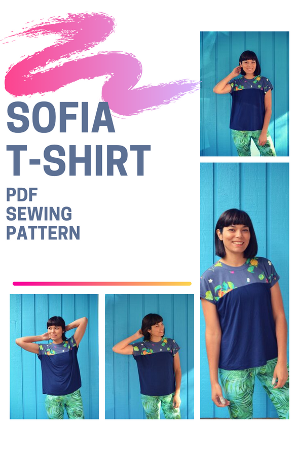 Sofia Knit Top PDF sewing pattern